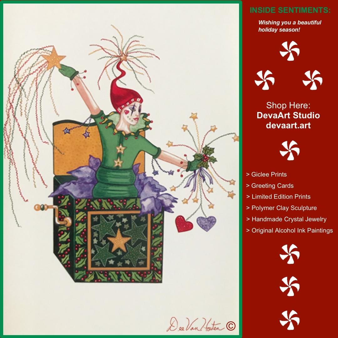 Mardi Gras Christmas Cards By Dee Van Houten Devaart Studio