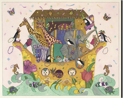 dee van houten, noah's ark giclee print