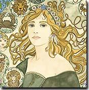 Dee Van Houten Fine Art, art nouveau giclee prints, stylized art