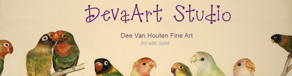 DevaArt Studio; animal art, intuitive paintings, floral art, spiritual art at devaart.com