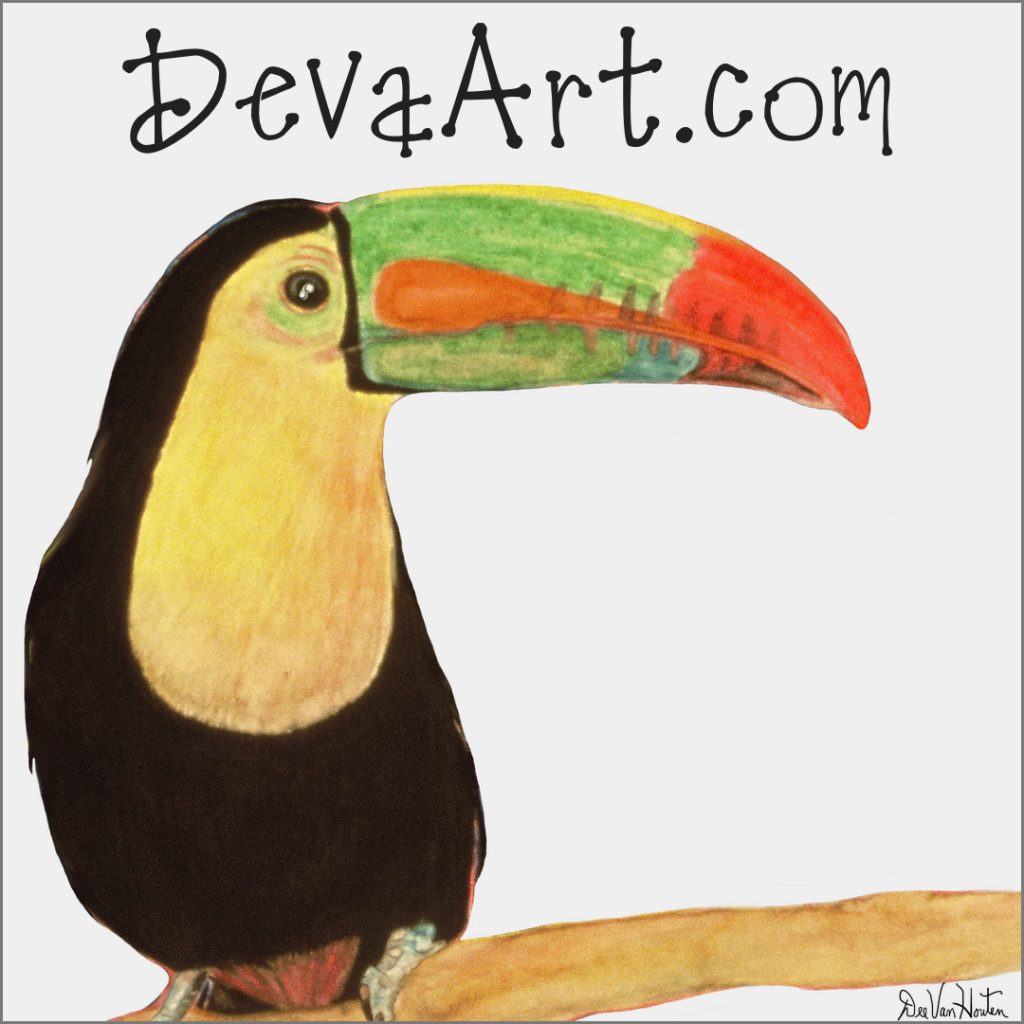 Toucan giclee prints available at devaart.com