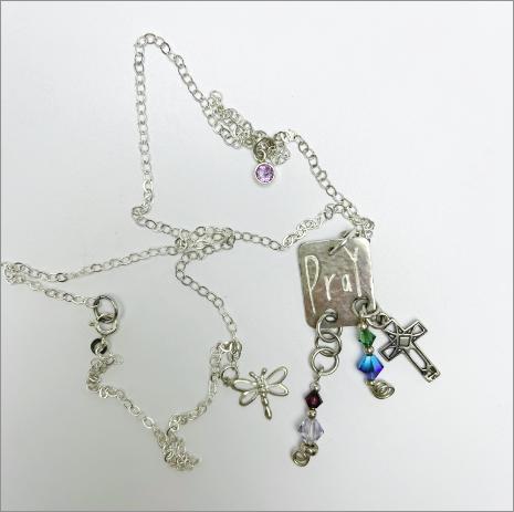 """Pray"" Artisan Handmade Jewelry by Dee Van Houten"